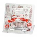 Подставка д/книг Bruno Visconti Красный автомобиль.Лондон регулир.наклон, металл