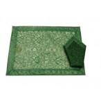 Салфетка настольная зеленая , 43х43см.