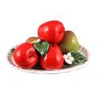 Композиция декоративная Блюдо с яблоками 10х22см.