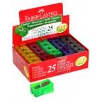Точилка Faber Castell  флуоресц. цвета, картон