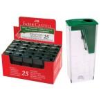 Точилка Faber Castell  с контейнером, зеленый, картон