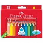 Мелки восковые 12цв. Faber Castell Grip стирающиеся, в картонной коробке
