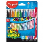 Фломастеры 12цв Maped Jungle картон