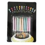 Свеча Tukzar с цветным пламенем, 5 цветов, 10 штук, блистерная упаковка