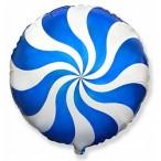 Шар воздушный Flexmetal Леденец синий, 18''/46см.