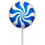 Шар воздушный Flexmetal Леденец-мини синий, 9''/23см.