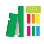 Набор закладок Tukzar Разноцветные магнитные, с линейкой, 2х6 см, 6 шт.