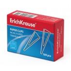 Скрепки Erich Krause 32мм., треугольные никелированные  100 шт.