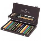 Набор Faber Castell Art  Graphic Compendium в деревянном пенале, 54 предмета