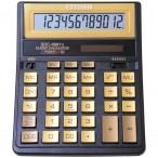 Калькулятор CITIZEN SDC-888 T II GE, черный-золотой, 12 разряд., 158х203х31мм, европодвес