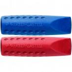 Ластик Faber Castell Grip 2001 колпачок, синий-красный