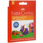 Пластилин 10цв. Faber Castell 130гр., в картонной коробке