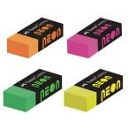 Ластик Faber Castell Neon набор цветов, в картонной коробке