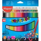 Карандаши 48 цв. MAPED Color Peps из липы,  треуг., ударопроч., в картонном футляре