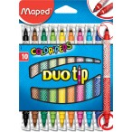 Фломастеры 10цв Maped Color Peps Duo Tip двусторонние, для письма и раскрашивания, смываемые