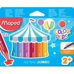 Мелки восковые 12цв. MAPED Color Peps макси, в картонном футляре