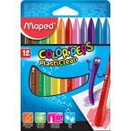 Мелки пластиковые 12цв. MAPED Color Peps в картонном футляре