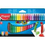 Мелки восковые 24цв. MAPED Color Peps в картонном футляре