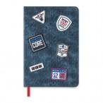 Записная книжка А5 Феникс Софт Тач 96л., джинс синий, тв. обложка, резиновые нашивки