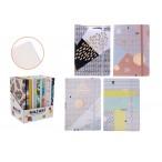 Записная книжка А5 Mazari Color mix  96л, на резинке, линия, 4вида, ассорти