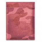 Чехол для пластиковых карт Феникс Камуфляж.Красный металлик 1отд., 2 кармана, прорез. карм.,105х78