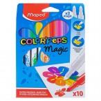 Фломастеры 10цв Maped Color Peps Magic меняющие цвет