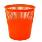 Корзина д/бумаг Tukzar  12л., оранжевая, флюорисц., пластик