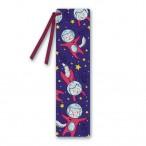 Закладка Феникс Котики в космосе картон, полноц.печать, 17х4,5, с лентой,