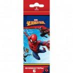 Фломастеры  6цв Хатбер BK Человек-паук(Marvel) карт.уп., европодвес
