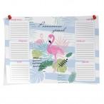 Расписание уроков A4 Феникс Фламинго мел.картон, выборочный уф-лак