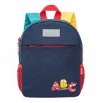 Рюкзак детский Grizzly темно-синий, 1 отд., карманы, укреп.спинка, светоот.элем., 22х28х10