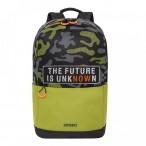 Рюкзак молодежный Grizzly черный - оливковый, 1 отд., карманы, укреп. спинка, 27х43х15