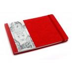 Скетчбук А5 Эксмо Art Class.Красный тв.обл., 40л., иск.кожа, сш. блок, горизонт., карман, 140г.