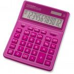 Калькулятор CITIZEN  SDC-444XRPKE, 12 разряд., розовый, 155х204х33мм, двойное питание