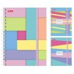 Записная книжка А6  Хатбер 120л. спираль Multicolor на резинке, клетка