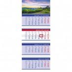 Календарь 2021г.настен. хатбер 4бл. бизнес.гармония природы 4 греб, бегунок, бум.мел., 2-х цв.блок