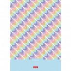 Бизнес-блокнот А4  80л.  Хатбер тв. обл. Нежный дизайн клетка, мат.ламин., 5 цв. блоков