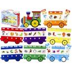 Развивающая игра Рыжий Кот Bright Kids.Умный паровозик Учим буквы и цвета  (развивающие пазлы)