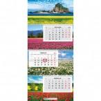 Календарь 2021г.настен. ХАТБЕР 3бл. Экстра.Планета цветов 3 греб., 2-х цв.блок, бегунок, цв.подлож
