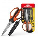 Ножницы ERICH KRAUSE Protector 16,5см, с чехлом, серо-оранжевые, европодвес