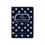 Записная книжка А6 Bruno Visconti 32л. From heart to heart клетка, обл.мел.картон, мат.лам., ск.уг