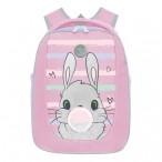 Рюкзак школьный Grizzly розовый, 2отд., карманы, анатом.спинка, формованный, светоот.элем., 29х36х18