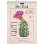 Скетчбук А5 ХАТБЕР Premium.Цветок кактуса 32л., 160г/кв.м., тв.подл., без линовки, на гребне