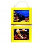 Рамка д/фото Фотолайт Сосна 21x30см., лимонная, двойная, подвесная