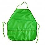 Фартук для уроков труда Проф-Пресс Зеленый с двумя карманами, 390х490