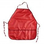 Фартук для уроков труда Проф-Пресс Красный с двумя карманами, 390х490