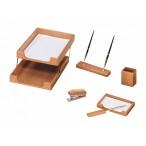 Набор настольный ХАТБЕР 6 предметов, светлый дуб, 2 ручки в компл.