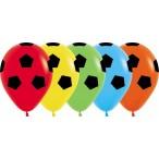 Шар воздушный Sempertex Футбольный мяч ассорти, пастель, 12''/30см.