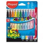 Фломастеры 12цв Maped Jungle картон