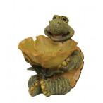 Фигурка декоративная ''Черепаха с листом''